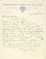 View Charles Lang Freer's letters to Frank Hecker during foreign travels, 1910-1911 digital asset number 7