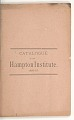 View <I>Catalogue of the Hampton Institute. 1886-87.</I> digital asset number 2