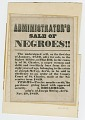 View Broadside for sale of enslaved woman and children from estate of Joseph McCoy digital asset number 2
