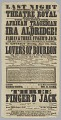 View Theatre poster featuring Ira Aldridge performing in Lovers of Bourbon digital asset number 2
