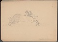 View Frank Calico drawing of mounted hunter armed with bow and arrow pursuing buffalo digital asset number 1
