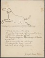 View Joseph Bear Robe drawing of and essay about the student's dog digital asset number 1