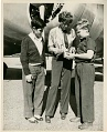 Amelia Earhart Signing Autographs
