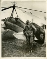 Amelia Earhart in Front of her Autogito