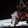 Apollo 11: Astronaut Edwin Aldrin Descends Steps of Lunar Module