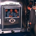 President Nixon Visits Apollo 11 Crew in Quarantine
