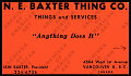 View N.E. Baxter Thing Co. business card digital asset number 2