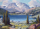 June Lake, High Sierra, (painting),  Name: Sammons, Carl