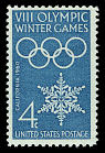 4c Olympic Winter Games single,  Name: Bureau of Engraving and Printing,  Date: 1960s