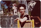 Frida Kahlo on the patio of her house in Coyoacán, Mexico,  Name: Arquin, Florence, Kahlo, Frida,  Date: 1940s
