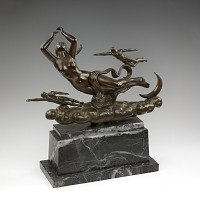 Bronze on Marble base