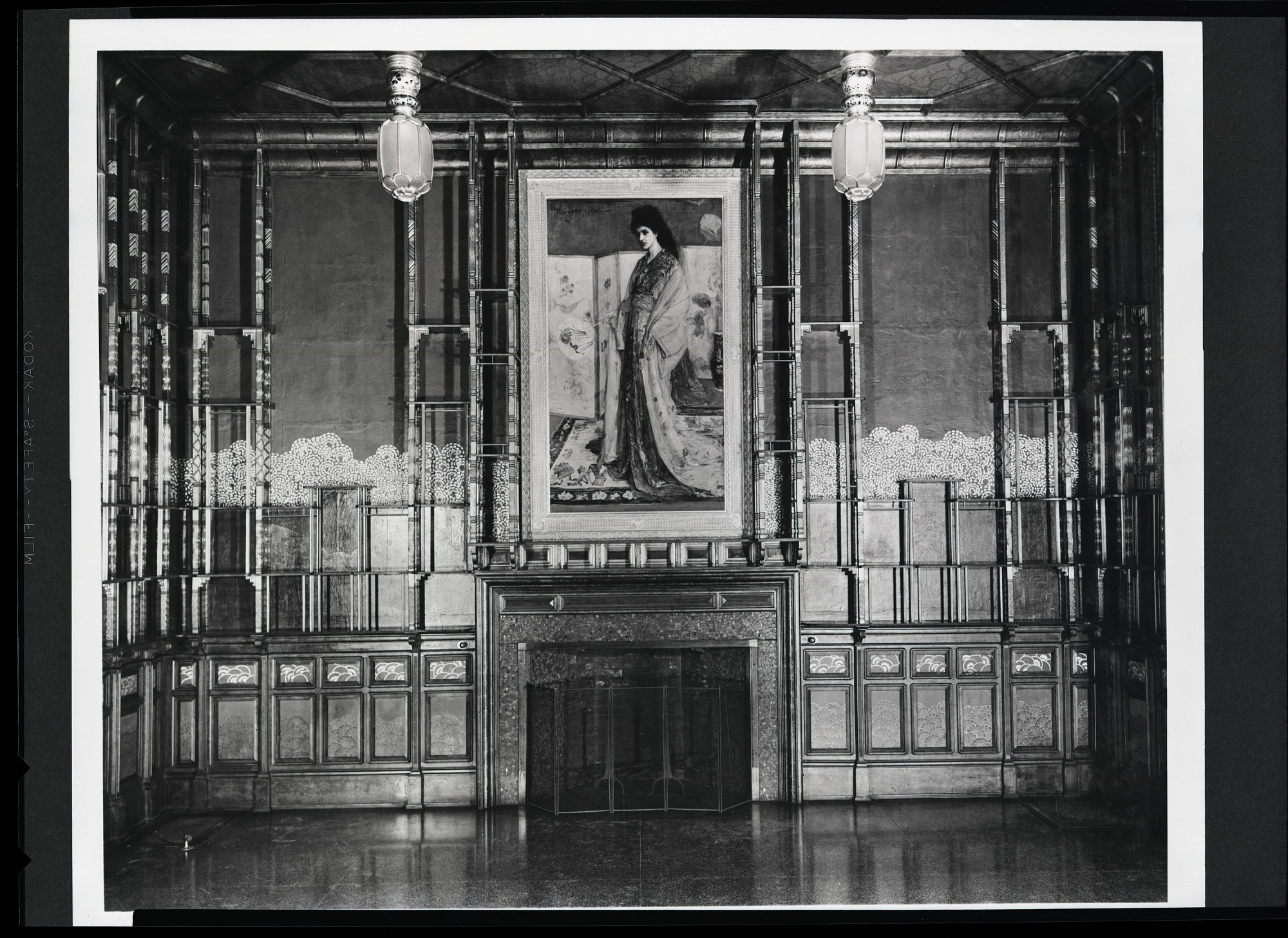 North Wall of the Peacock Room in the Freer Gallery of Art