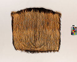 1 KOROWAI, FLAX CLOAK COVERED WITH TWO-PLY TWISTE...