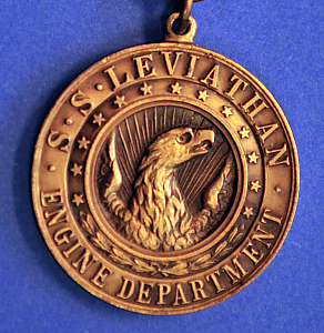 Commemorative medal, SS Leviathan (Obverse)