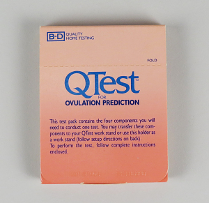 The QTest, a pregnancy test and ovulation predictor