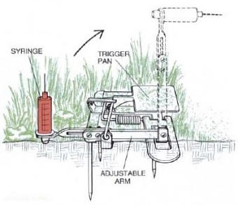 An illustration of the Vac-Trap in action, courtesy of Scientific American, June 1992, Vol. 266, No.6.