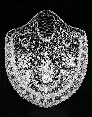 wedding veil  designed and made for Princess Stéphanie of Belgium for her wedding to Crown Prince Rudolf of Austria in 1881
