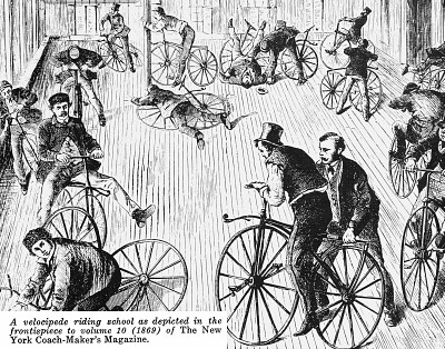 Velocipede Riding School, 1869