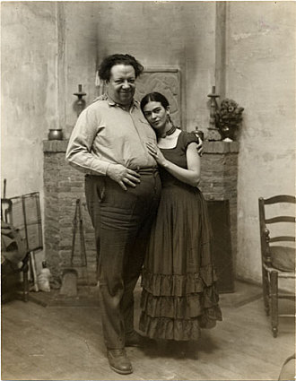 Photographs of Diego Rivera and Frida Kahlo, circa 1931, Box 1, Folder 24, John Weatherwax papers re