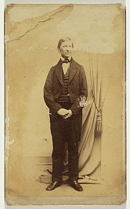 Ralph Waldo Emerson, between 1860 and 1870, by J. W. Black & Co., Photographic print on carte-de-vis