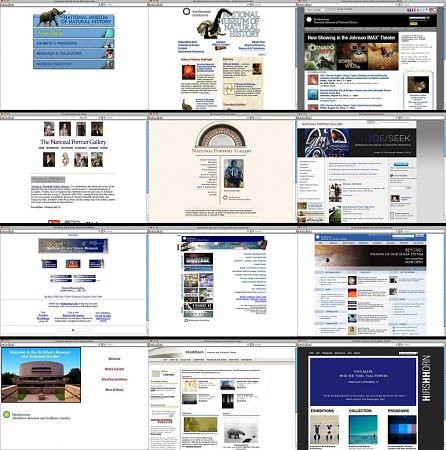 The evolution of the websites of the National Museum of Natural History, National Portrait Gallery,