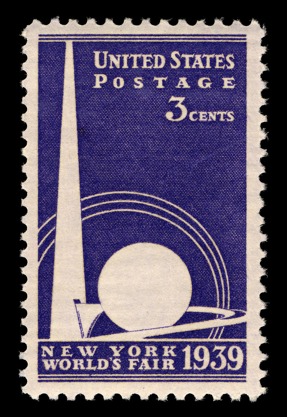 3c New York World's Fair Trylon and Perisphere single
