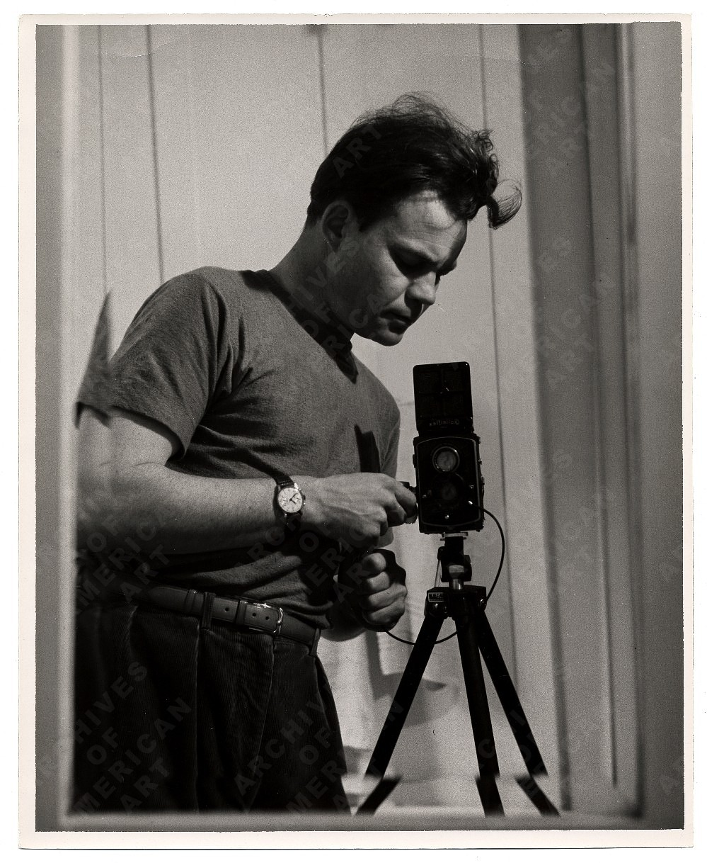Harry Bowden with camera by Unidentified photographer