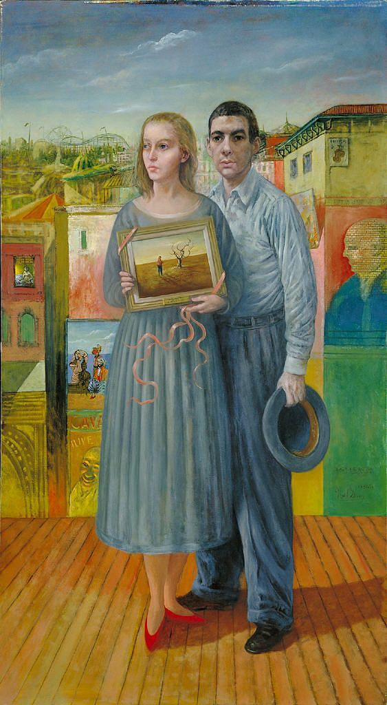 Portrait of the Artist and his Wife at Coney Island