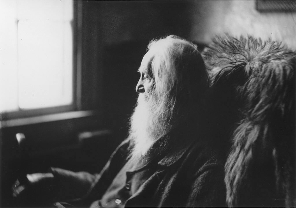 Walt Whitman in Camden, N.J. by Thomas Eakins