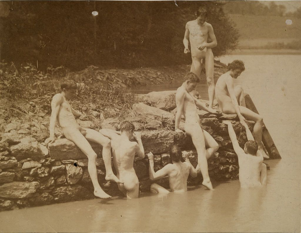 "Study for ""Swimming"" by Thomas Eakins"