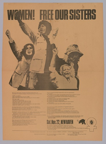 Black Panther Party Poster that reads Women! Free Our Sisters!