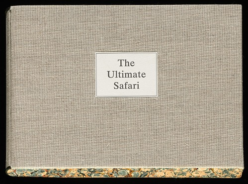 The ultimate safari by Nadine Gordimer ; with original hand-printed lithographs by Aletah Masuku, Alsetah Manthosi, and Dorah Ngomane, 2001. Cover. African Art Museum artists' books exhibit research image.