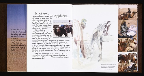 Tunisia by Bessie Smith Moulton, 2003. St Expuery.African Art Museum artists' books exhibit research image.
