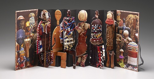 Dolls of Africa by Freya Diamond, 2011. Pop Up. African Art Museum artists' books exhibit research image.