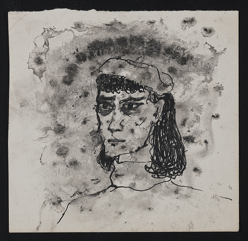 Gertrude Abercrombie self-portrait sketch