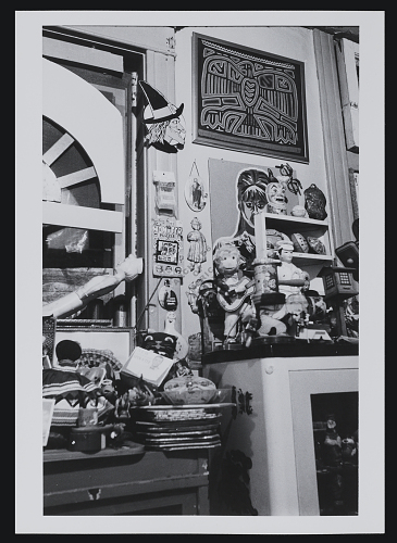 Karl Wirsum's studio, 1971 / unidentified photographer. Whitney B. Halstead papers, 1920-1982. Archives of American Art, Smithsonian Institution. Digital ID:?18076