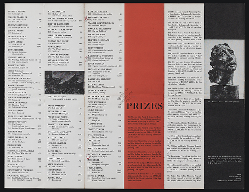 Art Institute of Chicago catalog for Artists of Chicago and vicinity?exhibition, 1955. Whitney B.