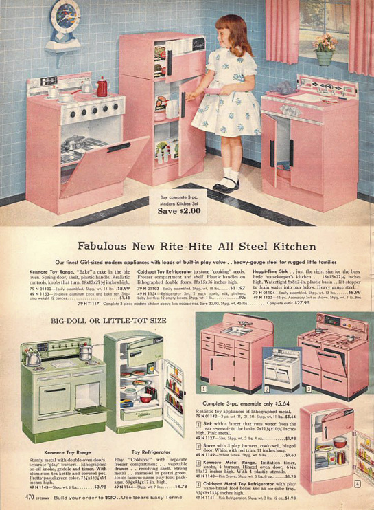 toy kitchen from the sears catalog 1950s - Toy Kitchen