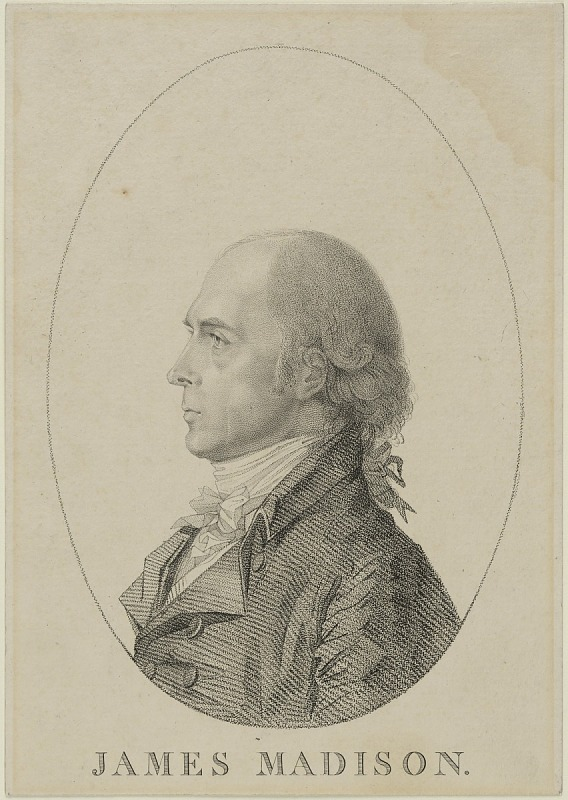 Man in a black suit and white cravat with a powdered wig
