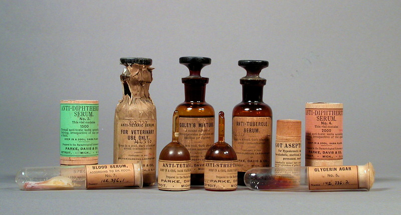 Serum therapies, donated by Parke, Davis & Company in 1898.