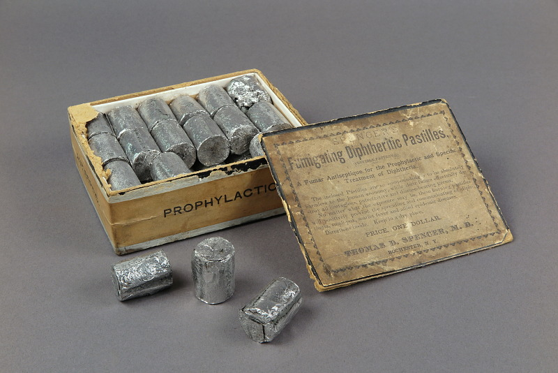 Spencer's Fumigating Diphtheritic Pastilles, ca 1890