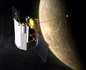 MESSENGER Spacecraft At Mercury