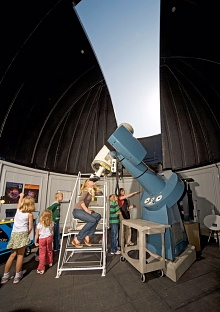 Young Visitors Inside the New Public Observatory