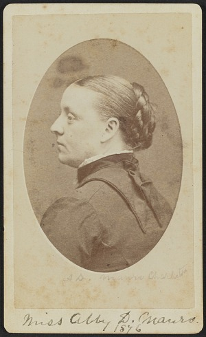 Carte De Visite Portrait Of Abby D Munro