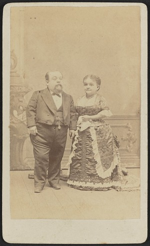 Carte De Visite Portrait Of Tom Thumb And Lavinia Warren