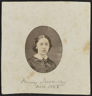 Albumen Portrait Of Fanny Seward Mounted On Paper