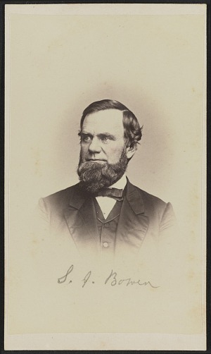 Carte De Visite Portrait Of S J Bowen