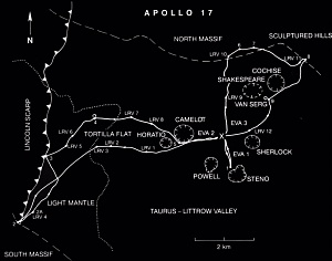 Apollo 17 Traverses