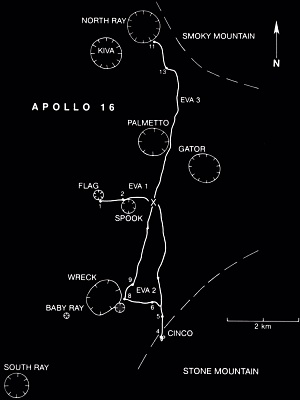 Apollo 16 Traverse Map