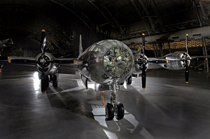 <em>Enola Gay </em> at the Steven F. Udvar-Hazy Center